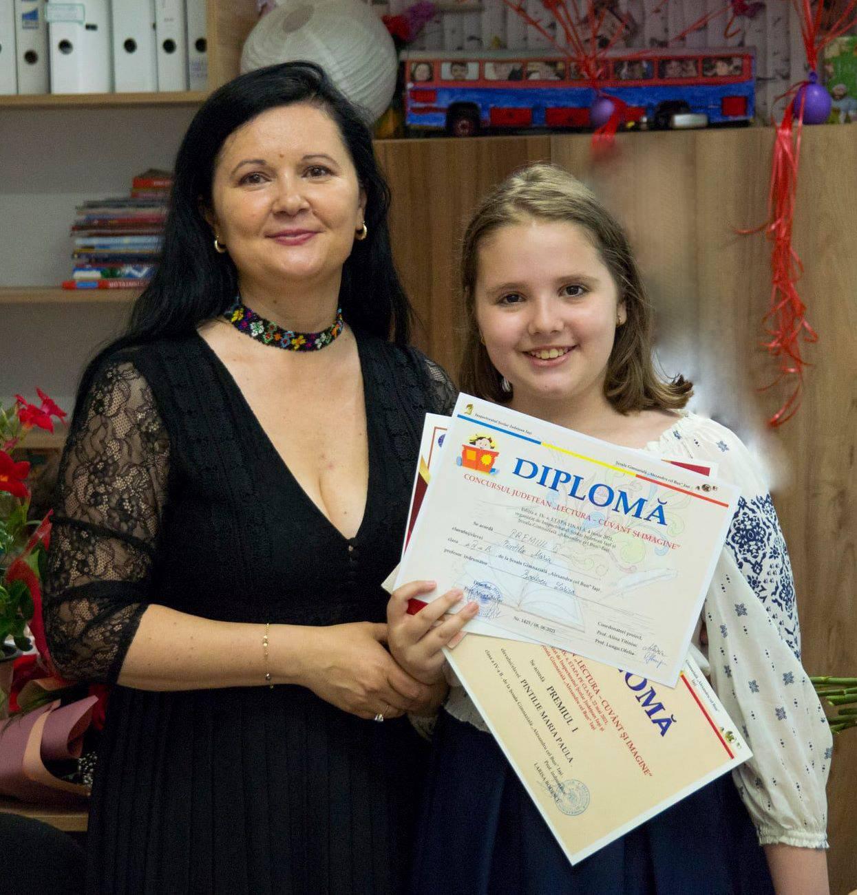 Maria - final de clasa a IV-a - invatatoare Larisa Bodescu